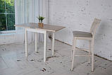 Стол кухонный раскладной Тавол Компакт ноги прямые дерево 50 см х 60 см х 75 см  Ясень, фото 9