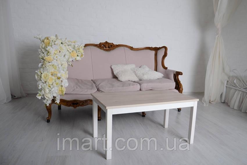 Журнальный стол Тавол Рист 90смх50смх44см с деревянными ногами Ясень