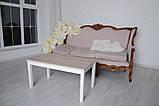 Журнальный стол Тавол Рист 90смх50смх44см с деревянными ногами Ясень, фото 2
