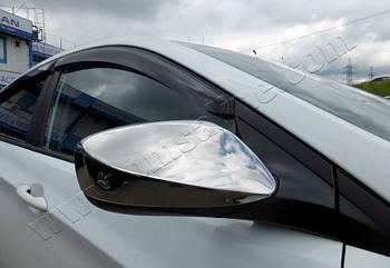 Hyundai Accent/Solaris/Elantra/I30 (2011-) Накладки на зеркала 2шт