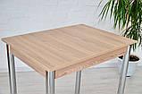 Кухонный набор Тавол Ретта (не раскладной стол+2 табурета) ножки хром Ясень, фото 2