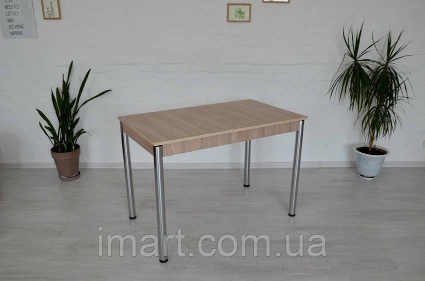 Стол Тавол Видрис Б 110смх65смх75см с хромированными металлическими ногами Ясень