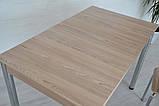 Стол Тавол Видрис Б 110смх65смх75см с хромированными металлическими ногами Ясень, фото 3