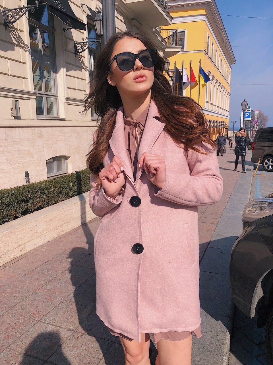 Кашемировое прямое женское Пальто на две пуговицы 60pt266