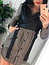 Женский комплект платье - рубашка в клетку и кожаный жилет 41ks499, фото 3