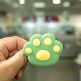 Держатель для телефона (попсокет, posocket) 3D [Лапа Зеленая/Желтая], фото 3