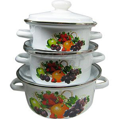 """Набор эмаль посуды №92 (3пр 1л 2л 3л ) """" Витаминка""""  0389 НМТЗ /92"""