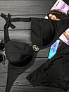 Женский купальник двойка с косточками и завязками 61kl388, фото 2