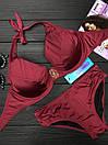 Женский купальник двойка с косточками и завязками 61kl388, фото 3