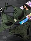 Женский купальник двойка с косточками и завязками 61kl388, фото 4