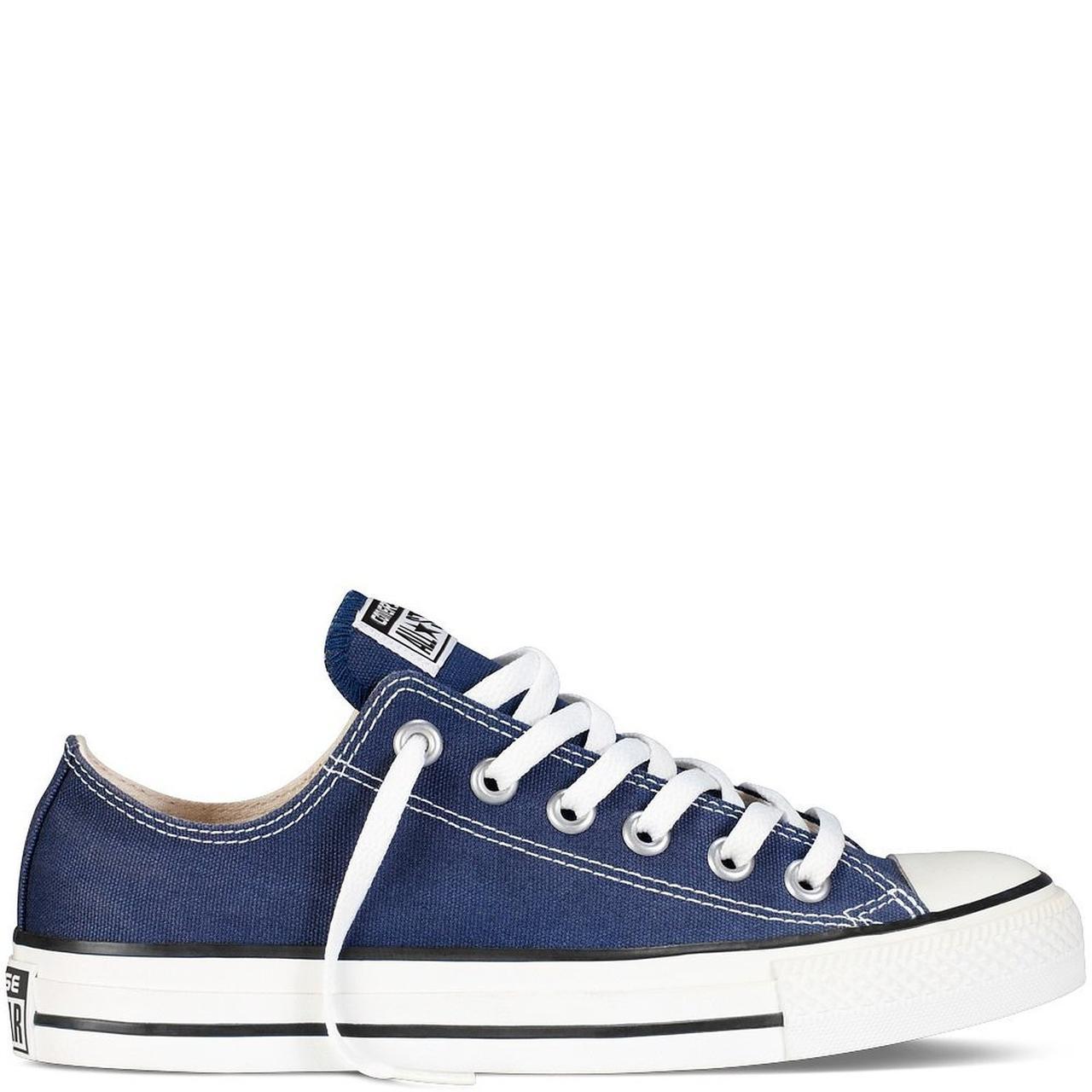 Кеды Converse All Star Blue (Конверсы синие низкие мужские и женские размеры 36-44)