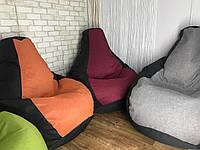Кресло мешок, бескаркасное кресло Груша Мягкий Пуф-подушка  ХХL130*90 см ткань оксфорд 600 + вставка  Рогожка