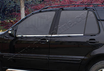 Mercedes ML /W164 (2005-2011) Молдинги стекол нижние 4шт
