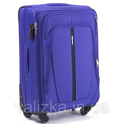 Средний текстильный чемодан на 4-х колесах Wings-1706 фиолетового цвета., фото 2