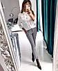 Женская белая рубашка из софта с пуговицами 40rz334, фото 2