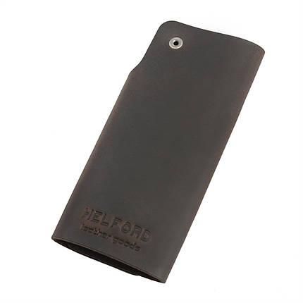 Ключница из матовой темно-коричневой кожи HELFORD Кросс brn (1133517223), фото 2