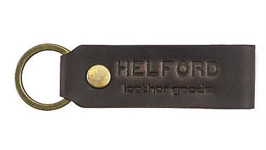 Ключница из матовой темно-коричневой кожи HELFORD Кросс brn (1133517223), фото 3