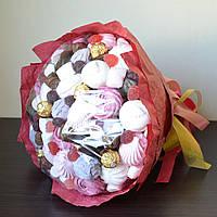 Букет из 5 видов зефира, маршмелоу и конфет