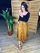Женская кожаная юбка миди на пуговицах спереди 58wa360, фото 3