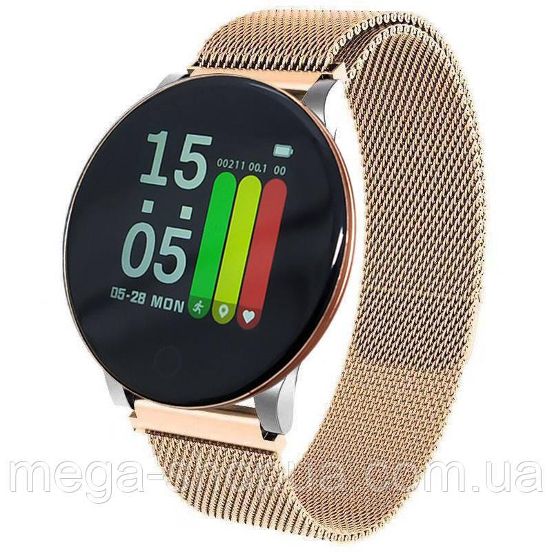 Смарт-часы Smart Watch ROHS8 Golden, спорт часы, умные часы, наручные часы, фитнес браслет, фитнес трекер