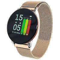 Cмарт-часы с металлическим ремешком Milanese Smart Watch ROHS8 Golden