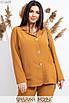 Женский брючный костюм в больших размерах с прямым пиджаком 1uk552, фото 6