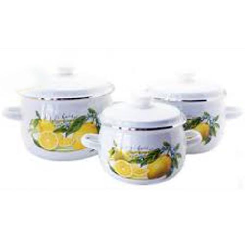 "Набор эмаль посуды №926 (3пр 2.5л 3.5л 5л ) "" Лимон""  0894 НМТЗ"
