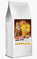 Сухой корм HOME FOOD с индейкой и креветкой + хондроитином 10 кг для взрослых кошек и котов