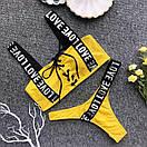 Женский раздельный купальник со шнуровкой на лифе и лентами 61kap392, фото 2