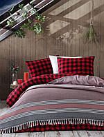 Плед-покрывало Eponj Home 200*230 Anna Elmas kirmizi-siyah красное с черным