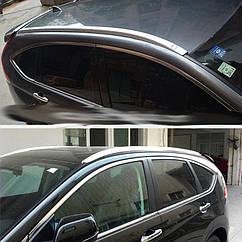 Рейлинги Honda CRV 2012-2017 серые интегрированные