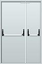 "Противопожарные двери двустворчатые EI 30. Замок антипаника. 2050х1200 мм. Серии ""Рубеж 2"", фото 2"
