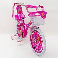Детский двухколесный велосипед для девочки BARBIE 19ВВ01-16 (от 5 лет) на 16 дюймов BARBIE