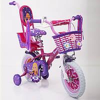 Детский двухколесный велосипед для девочки BARBIE (Барби) 19ВВ02-12 на 12 дюймов