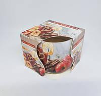 Свечи ароматизированные в стакане Bispol Яблоко и Корица