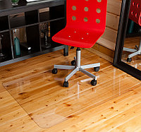 Защитный коврик подложка под кресло 1250х1000мм. Толщина 0.8 мм. Кристально-прозрачный.
