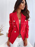 Пиджак женский бежевый, изумруд, мята, красный, чёрный 42-44, 44-46