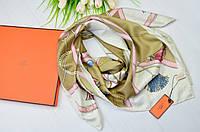 Шелковый платок в стиле Hermes (Гермес)
