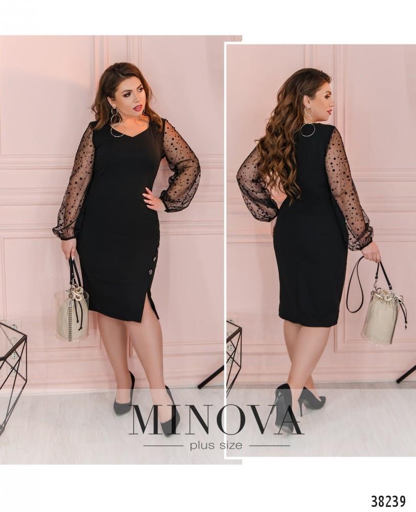 Нарядное приталенное платье большого размера размеры: 50,52,54,56
