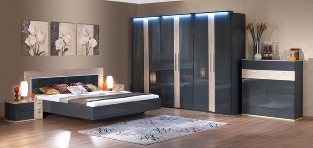 Спальня Капри (Embawood) (шкаф 6 дверей+комод W1200)