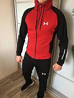 Спортивный костюм мужской Андер Армен + в подарок фирменная футболка (черный- красный)
