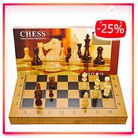 Нарды шахматы и шашки из бамбука набор 3в1 (40 х 40 см)