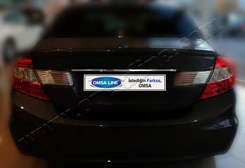 Honda Civic Sedan (2012-) Накладка над номером на багажник