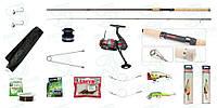 Спиннинг Bratfishing Kevlar 2.55м. тест 10-30g. Котушка SHAR PEI 2 000 з переднім тормозом. Набір №15