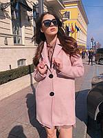 Кашемірове пряме жіноче Жіночі пальто на два ґудзики 60mpa266