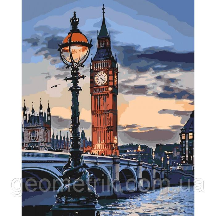 Картина за номерами. Лондон в сутінках 40х50см арт. КНО3555