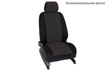 Чехлы салона Nissan Qashqai 2014- (с подлокотником) Жаккард /темно-серый