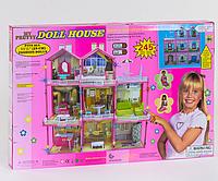 Домик для кукол 6992 3 этажа свет мебель (высота 109 см)