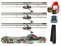 3 Качественных Карповых Спиннига Bratfishing Excalibur Carp 3.5 Lb 3.3 m - 3 шт. Набор №102(3.3м)