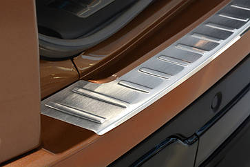 Накладка на задний бампер Range Rover Evoque 5d 2011-2015, FL 2015-, полированная сталь 35570